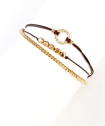 Brown & Gold Triple Bracelet