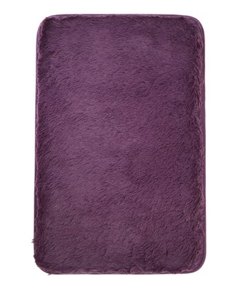 Plum Sparkle Memory Foam Bath Mat