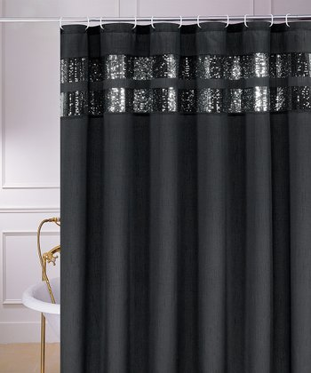 Black Glenda Shower Curtain