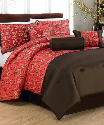 Red Eastwood Comforter Set