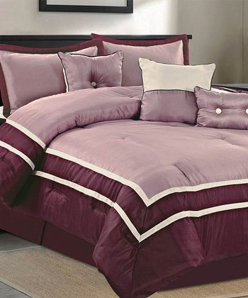 Plum Parkview Comforter Set