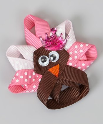 Pink Turkey Princess Clip