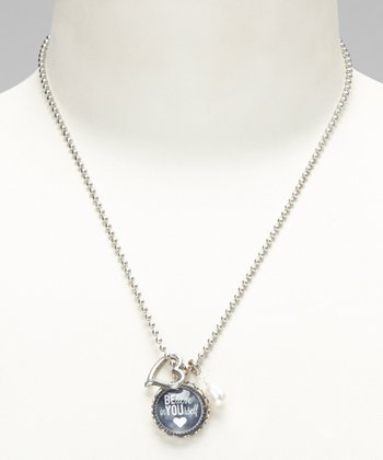 Silver 'Believe In Yourself' Story Pendant Necklace