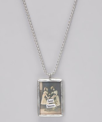 Silver 'Soul Sisters' Soldered Pendant Necklace