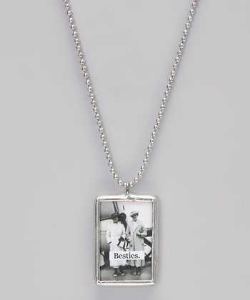 Silver 'Besties' Soldered Pendant Necklace