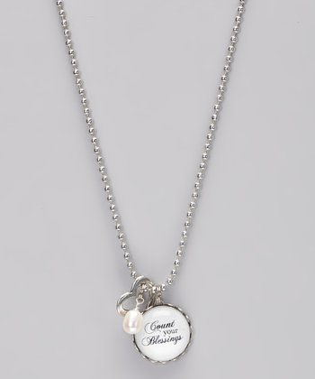 Silver 'Count Your Blessings' Story Necklace