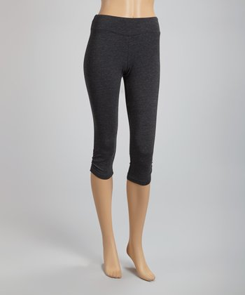 Charcoal Heather Capri Pants