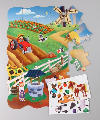 The Learning Journey Farm Create-A-Scene Floor Puzzle