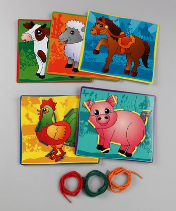 Farm Animals Lace It! Lacing Cards