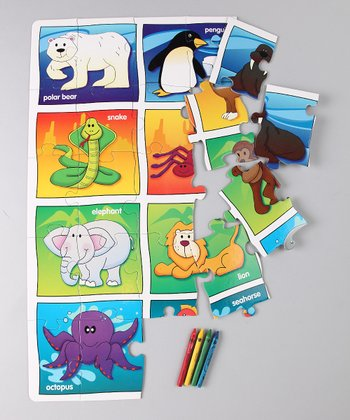 Learning Journey Let's Learn Animals Floor Puzzle