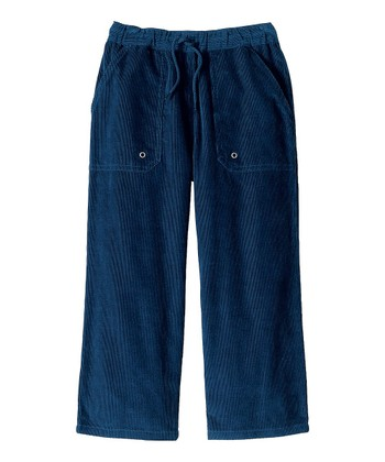 Navy Carefree Corduroy Pants - Infant, Toddler & Boys