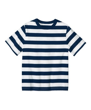 White & Navy Stripe So Breezy Tee - Infant, Toddler & Boys