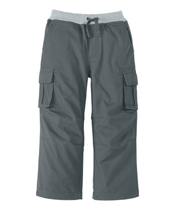 Antwerp Gray Quiet Cargo Pants - Infant, Toddler & Boys