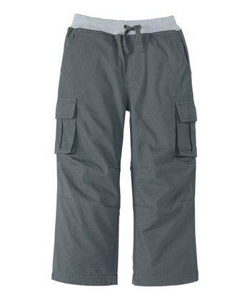 Antwerp Gray Quiet Cargo Pants - Infant, Toddler & Boys