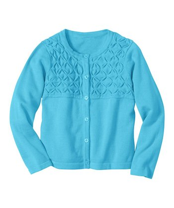 Caribbean Blue Crisscross Cardigan - Infant, Toddler & Girls