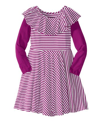 Theater Purple Pinstripe Dress - Infant, Toddler & Girls