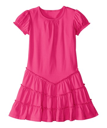 Zing Pink Twirl & Ruffle Dress - Infant, Toddler & Girls
