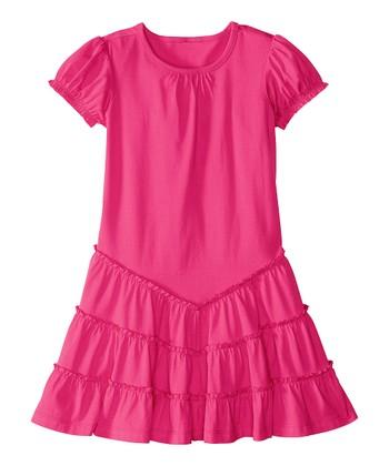 Zing Pink Twirl & Ruffle Dress - Infant, Toddler & Girls