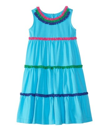 Caribbean Blue Twirl Organic Jumper - Infant, Toddler & Girls