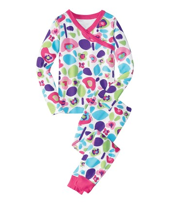 White Floral Organic Pajama Set - Infant, Toddler & Girls