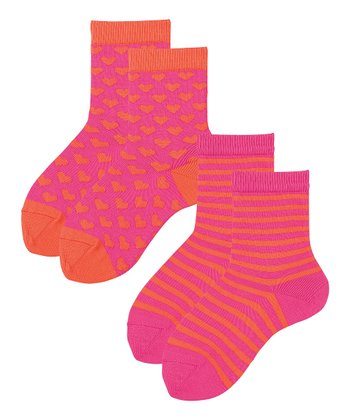 Zing Pink & Orange Flame Mix-A-Lot Socks Set