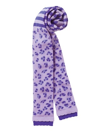 Purple Leopard Footless Tights - Infant, Toddler & Girls