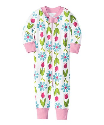 White Flowers Night Night Organic Playsuit - Infant & Toddler