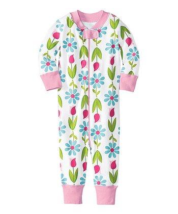 White Flowers Night Night Organic Playsuit - Infant & Toddler