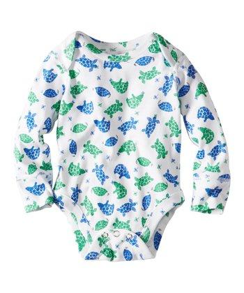 Blue & Green Turtles Organic Bodysuit - Infant & Toddler
