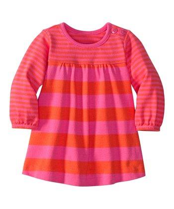 Zing Pink & Orange Flame Play Dress - Infant