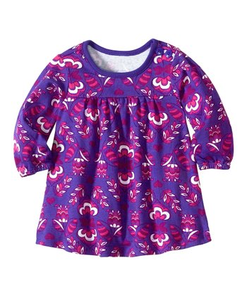 Perfect Purple Floral Play Dress - Infant