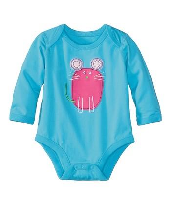 Caribbean Blue Mouse Organic Bodysuit - Infant & Toddler