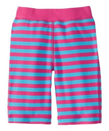 Pink & Blue Stripe Soft Landing Organic Pants - Infant & Toddler
