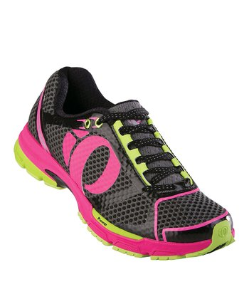 Black & Electric Pink Kissaki Running Shoe - Women