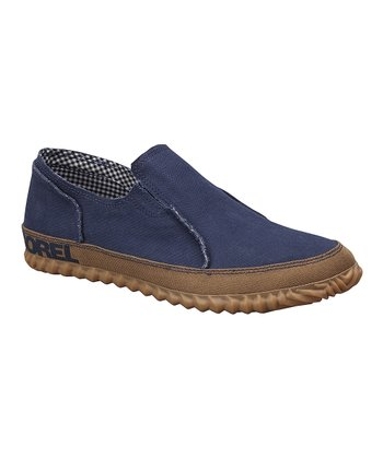 Collegiate Navy Sorel Canvas Moccasin - Men