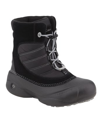 Black & Light Gray Rope Tow Boot - Kids