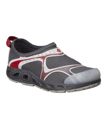 Charcoal & Intense Red Drainsock II All-Terrain Shoe - Kids