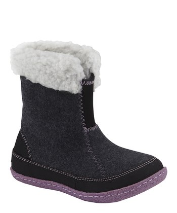 Coal & Black Cozy Bou Boot - Kids