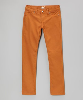 Burnt Orange Twill Pants