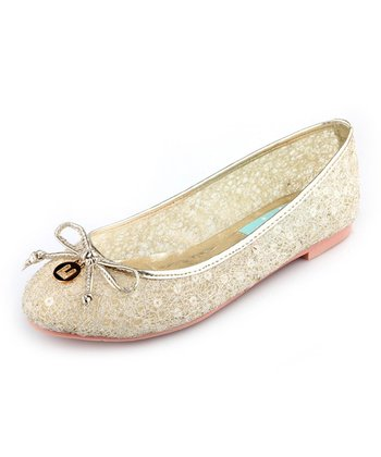 Gold Sequin Angela Ballet Flat - Women