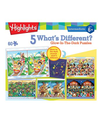 Highlights What's Different Glow-in-the-Dark Puzzle Set