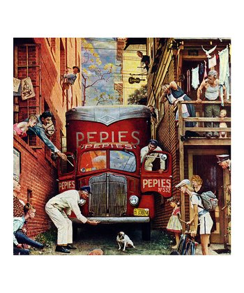 Norman Rockwell Post Road Block Puzzle