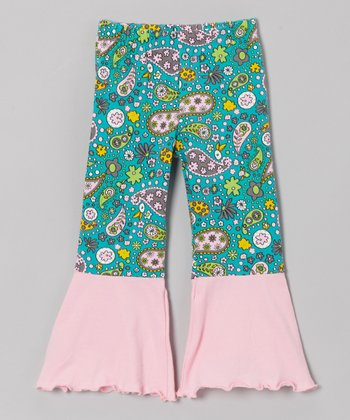 French Pink Contrast Ruffle Pants - Toddler & Girls