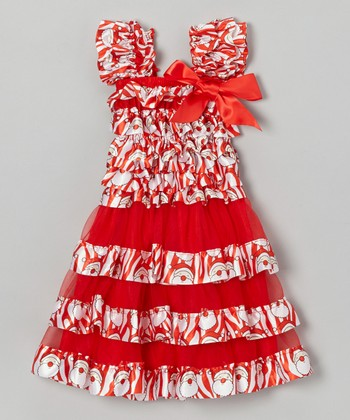 Red Santa Ruffle Dress - Infant, Toddler & Girls