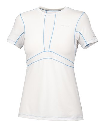 White Base Layer Lightweight Top - Women