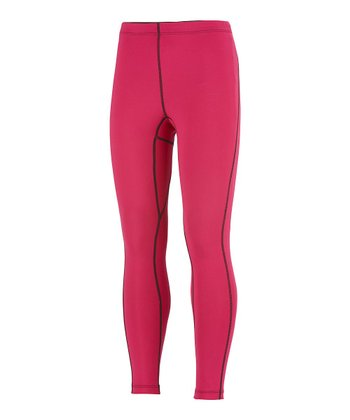Bright Rose Midweight Thermal Tights - Kids