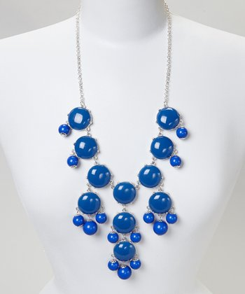 Royal Blue Bubble Necklace