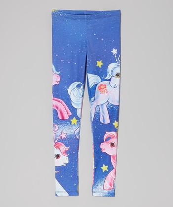 Blue My Little Ponies Space Leggings - Girls