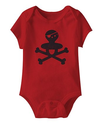 Red Skull & Crossbones Binky Bodysuit - Infant