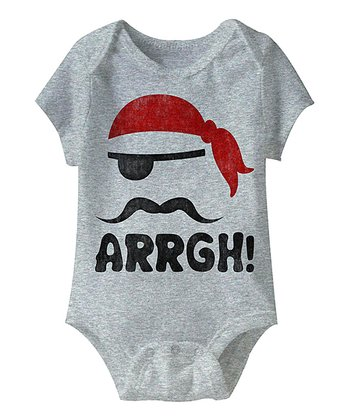 Heather Gray 'Arrgh!' Bodysuit - Infant